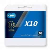 CADENA KMC X10 PLATA/NEGRA...