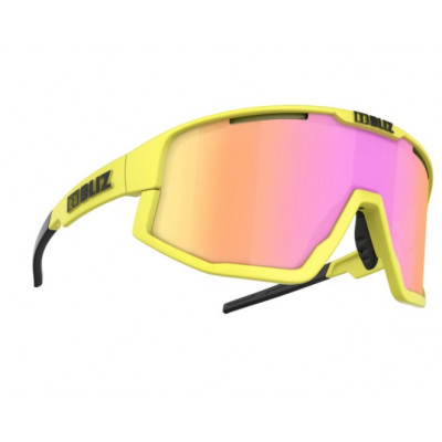 FUSION NEON YELLOW FRAME BROWN WITH PURPLE MULTI LENS