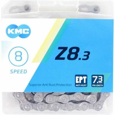 Cadena KMC X8 114 eslabones 8 velocidades PLATA