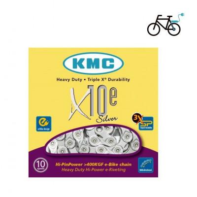 CADENA KMC X10E BICI ELECTRICA 114L 10V