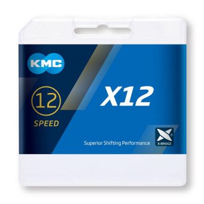 CADENA KMC X12 PLATA 126P 12V