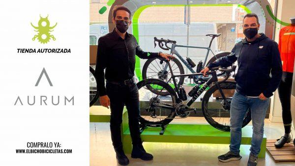 Alberto Contador en el Bicho Bicicletas